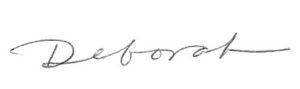 Deborah signature